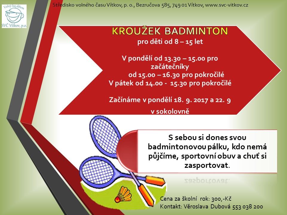 leták badminton